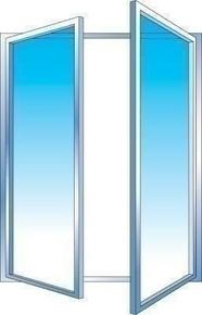 Fenêtre PVC blanc CALINA 2 vantaux ouverture à la française haut.1,15m larg.1,20m vitrage 4/16/4 basse émissivité - Gedimat.fr