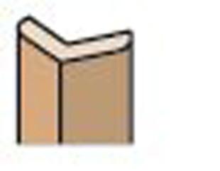 Baguette angle extérieur mélaminée ép.28mm larg.28mm long.2,70m érable blanc - Gedimat.fr
