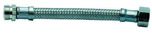 Flexible d'alimentation sanitaire inox mâle-femelle à visser diam.20x27mm long.50cm sur plaquette 1 pièce - Gedimat.fr