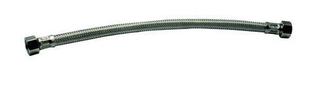 Flexible d'alimentation sanitaire inox femelle-femelle à visser diam.15x21mm long.30cm sur plaquette 1 pièce - Gedimat.fr
