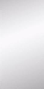 Miroir argent rectangulaire adhésif bords polis ép.4mm larg.30cm long.60cm - Gedimat.fr