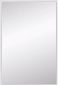 Miroir argent rectangulaire adhésif bords biseautés 10mm ép.4mm larg.30cm long.44cm - Gedimat.fr