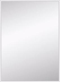 Miroir argent rectangulaire adhésif bords biseautés 10mm ép.4mm larg.44cm long.60cm - Gedimat.fr