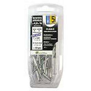 Rivet aveugle standard alu/acier diam.4,0mm long.8mm - Blister de 115 pièces - Gedimat.fr