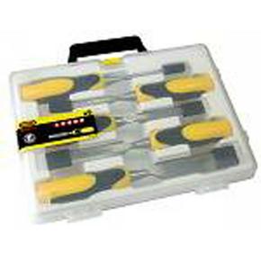 Coffret de 5 ciseaux à bois DYNAGRIP strike 6-10-15-20-25mm - Gedimat.fr