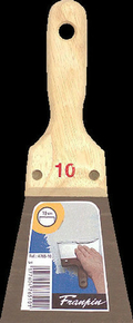 Couteau à enduire acier manche bois n°10 long.24,5cm larg.10cm - Gedimat.fr