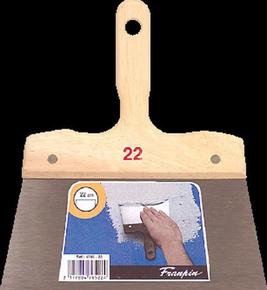 Couteau à enduire acier Pro manche bois brut 22cm - Gedimat.fr