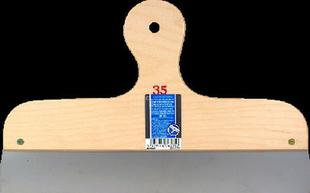 Couteau à enduire projeté inox manche contreplaqué 7 plis long.35cm - Gedimat.fr