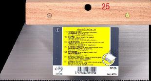 Couteau à colle lame acier dents triangulaires 3x2,5mm manche bois brut long.25cm - Gedimat.fr