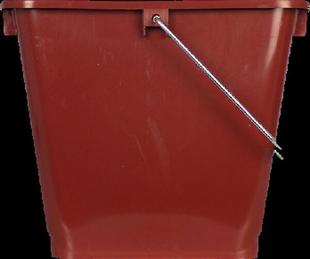 Seau rectangulaire pro polypropylène anse métallique 13 litres - Gedimat.fr