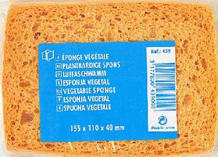 Eponge végétale cellulose fine dim.115x110x40mm - Gedimat.fr