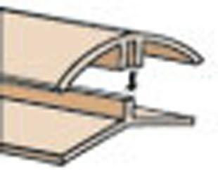 Profil PVC angle intérieur et extérieur clipsable ép.5 à 8 mm long.2,60m blanc - Gedimat.fr