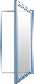 Fenêtre PVC blanc CALINA 1 vantail ouverture à la française gauche tirant haut.75cm larg.40cm vitrage imprimé 4/16/4 basse émissivité - Gedimat.fr