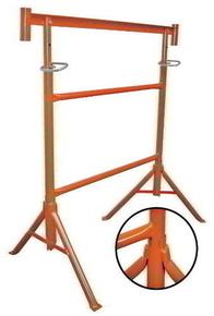 Tréteau de maçon tubulaire peint N°2 pieds fixes tube diam.42mm haut.réglable de 1,20m à 2,10m - Gedimat.fr