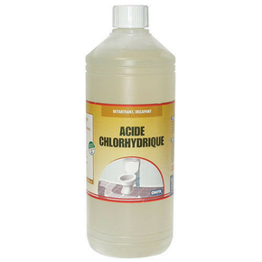Acide chlorydrique 23 bidon de 1l for Acide chlorhydrique piscine