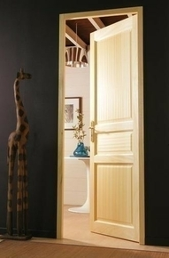 Bloc porte clichy en bois exotique huisserie de 92x40mm for Huisserie de porte definition