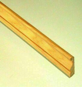 Chambranle Pin des Landes sans nœud classique Louis XVI section 10x45mm long.2,40m - Gedimat.fr