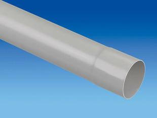 Tube de descente prémanchonné PVC pour eaux pluviales diam.100mm long.4m coloris gris clair - Gedimat.fr