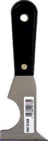 Couteau multi fonctions lame inox manche bi-matière noir/jaune - Gedimat.fr