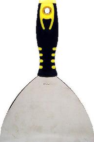 Couteau de peintre type américain inox manche bi matière larg.15,6cm n°6 - Gedimat.fr