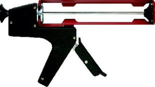 Pistolet pour cartouche type squelette acier laqué long.225mm rouge - Gedimat.fr
