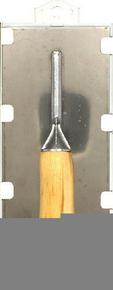 Platoir biseauté lame inox poignée bois 28x12cm - Gedimat.fr