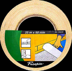Ruban adhésif double face support toilé en rouleau larg.50mm long.25m - Gedimat.fr