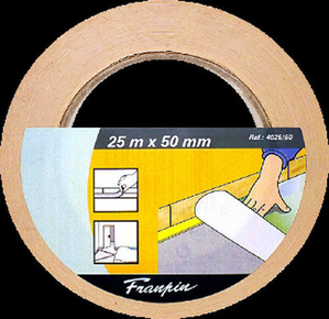Ruban adhésif double face support polypropylène en ruban larg.50mm long.25m - Gedimat.fr