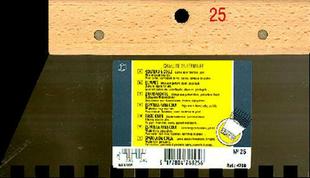 Couteau à colle lame acier dents carrées 10x10cm manche bois brut long.25cm - Gedimat.fr