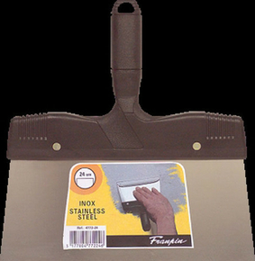Couteau à enduire inox manche polypropylène 24mm - Gedimat.fr