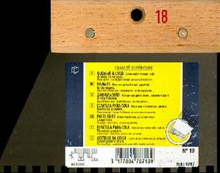 Couteau à colle lame acier dents carrées 6x6mm manche bois brut long.18cm - Gedimat.fr