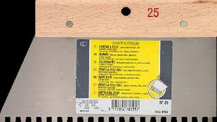 Couteau à colle acier manche bois denture carrée 6mm larg.25cm - Gedimat.fr