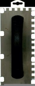 Platoir à colle lame acier trempé verni dents carrées 10x10mm poignée polypropylène 28x12cm - Gedimat.fr