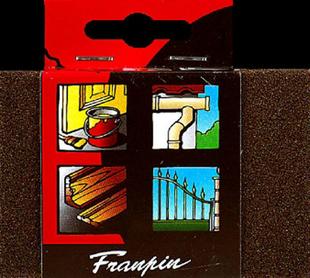 Eponge abrasive 2 grains fin et moyen - Gedimat.fr