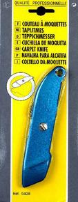 Couteau à moquette corps bi-matière lame rétractable - Gedimat.fr