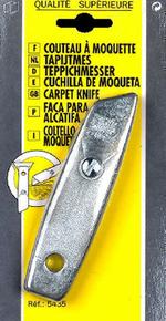 Couteau à moquette corps bi-matière lame fixe - Gedimat.fr