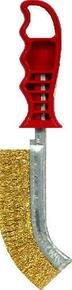Brosse convexe métallique manche polypropylène 26cm rouge - Gedimat.fr