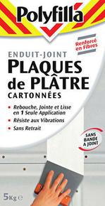 Enduit plaque de plâtre cartonnée poudre 5kg - Gedimat.fr