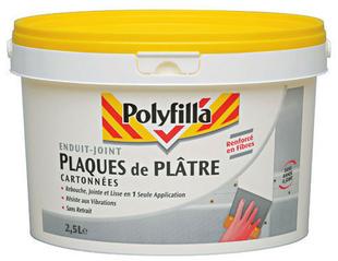Enduit plaque de plâtre cartonnée pate 2,5L - Gedimat.fr