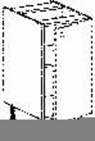 Meuble de cuisine BOIS SCIE BLANC bas 1 porte bp haut.70cm larg.40cm + pieds réglables de 12 à 19cm - Gedimat.fr