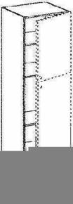 Meuble de cuisine AGATHA module armoire rangement 2 portes haut.200cm larg.60cm décor métal blanc laqué - Gedimat.fr