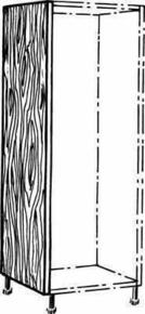 Joue basse ANTHRACITE en stratifiée ép.19mm haut.1,30m larg.56cm - Gedimat.fr