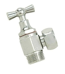 Robinet de chasse équerre à clapet laiton chromé diam.12x17mm en vrac 1 pièce - Gedimat.fr