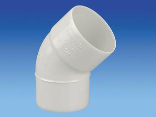 Coude PVC 45° MF diam.80mm blanc - Gedimat.fr