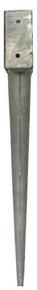 Pied de poteau métallique galva enveloppant dimension dim.91x91mm ép.2mm - Gedimat.fr