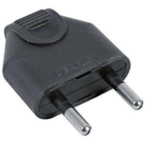 Fiche électrique mâle 2P 6A coloris noir - Gedimat.fr