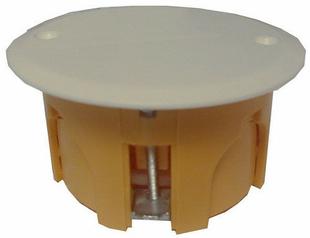 Boîte de dérivation avec couvercle pour cloison creuse ronde diam.65mm prof.40mm vendue sous film - Gedimat.fr