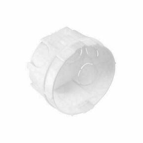 Boîte d'encastrement à sceller 1 poste ronde coloris gris diam.65mm haut.40mm en vrac 1 pièce - Gedimat.fr