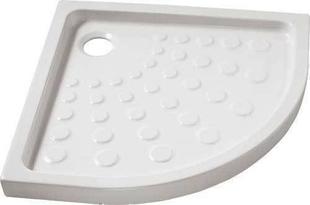 Receveur d'angle à poser ou à encastrer 1/4 de cercle grès ép.7,5cm dim.80x80cm blanc - Gedimat.fr