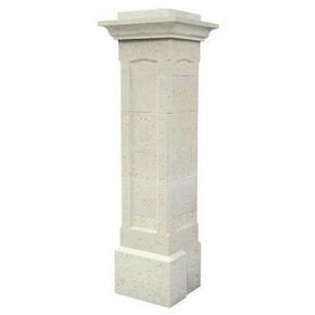 El ment bas pour pilier pierre reconstitu e chambord coloris blanc - Habillage poteau portail ...
